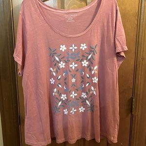 Lucky 🍀 Brand Floral Plus Size Pink T-shirt Tee